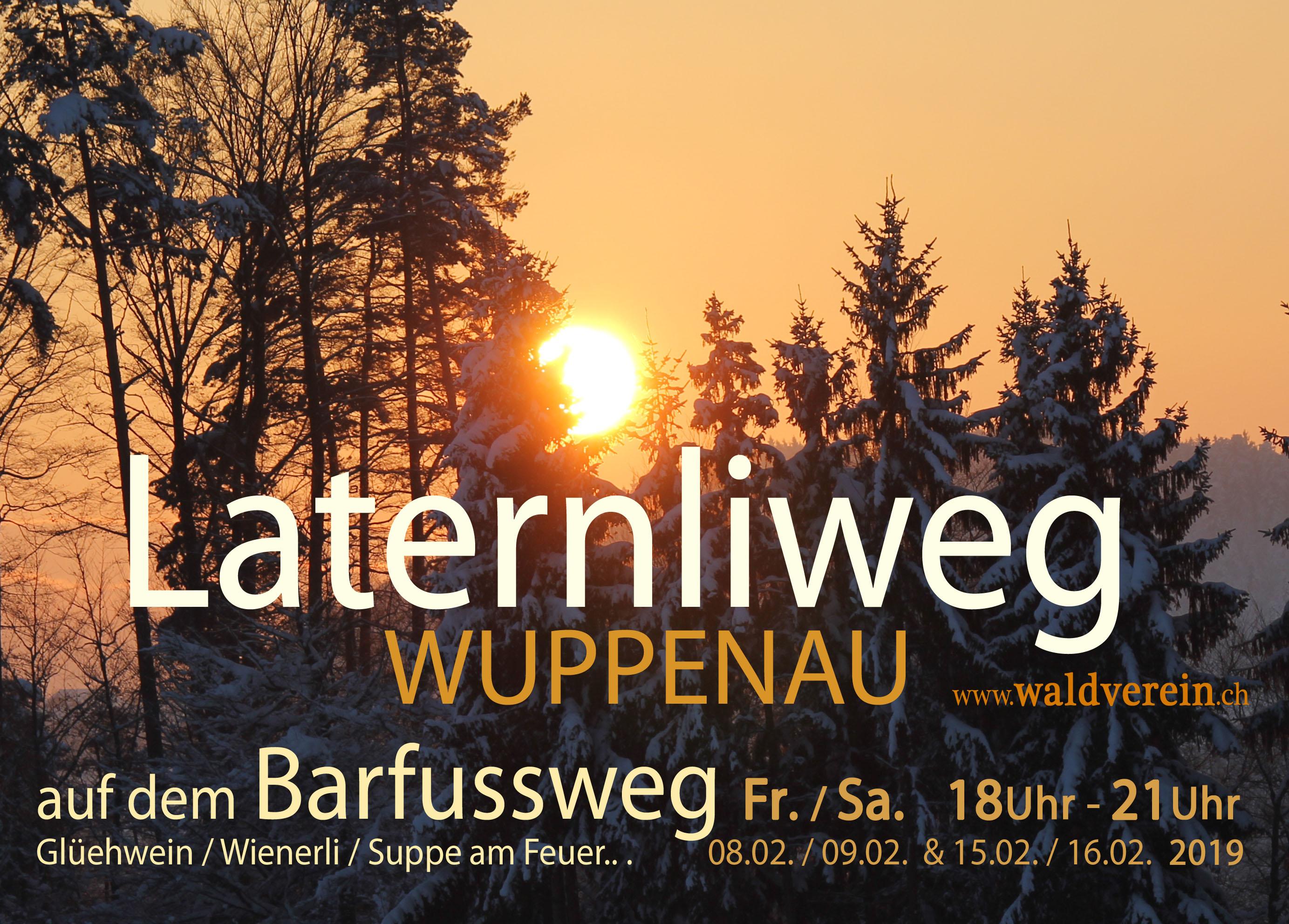 Flyer Barfussweg Laternliweg 2019 Frontseite
